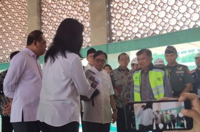JK Tinjau Progres Renovasi Masjid Istiqlal