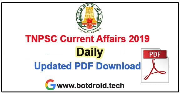 tnpsc group 4 daily current affairs 2019 download