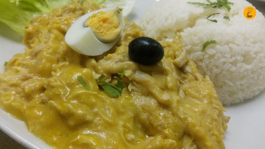 Ají de gallina en Norky´s Vallecas, cocina peruana Vallecas, restaurantes peruanos Vallecas, Norky´s Sierra de Cameros