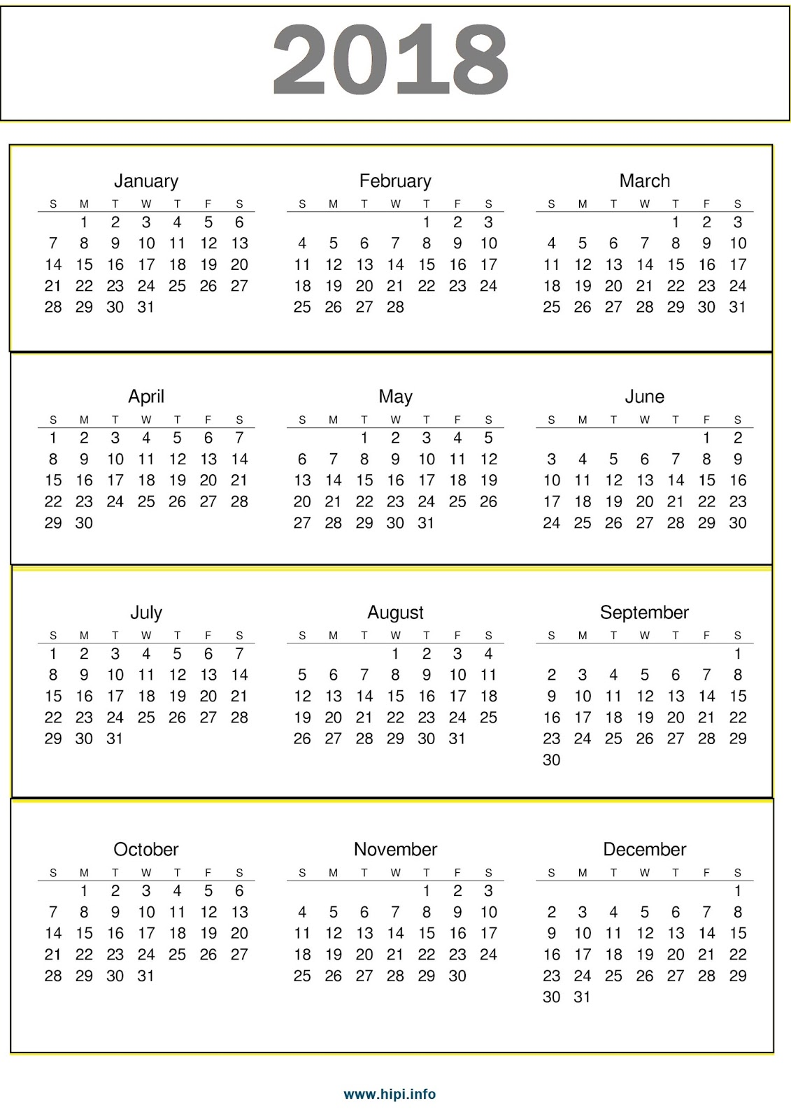 2018 Calendar With Holidays Printable One Page Pictures to ...