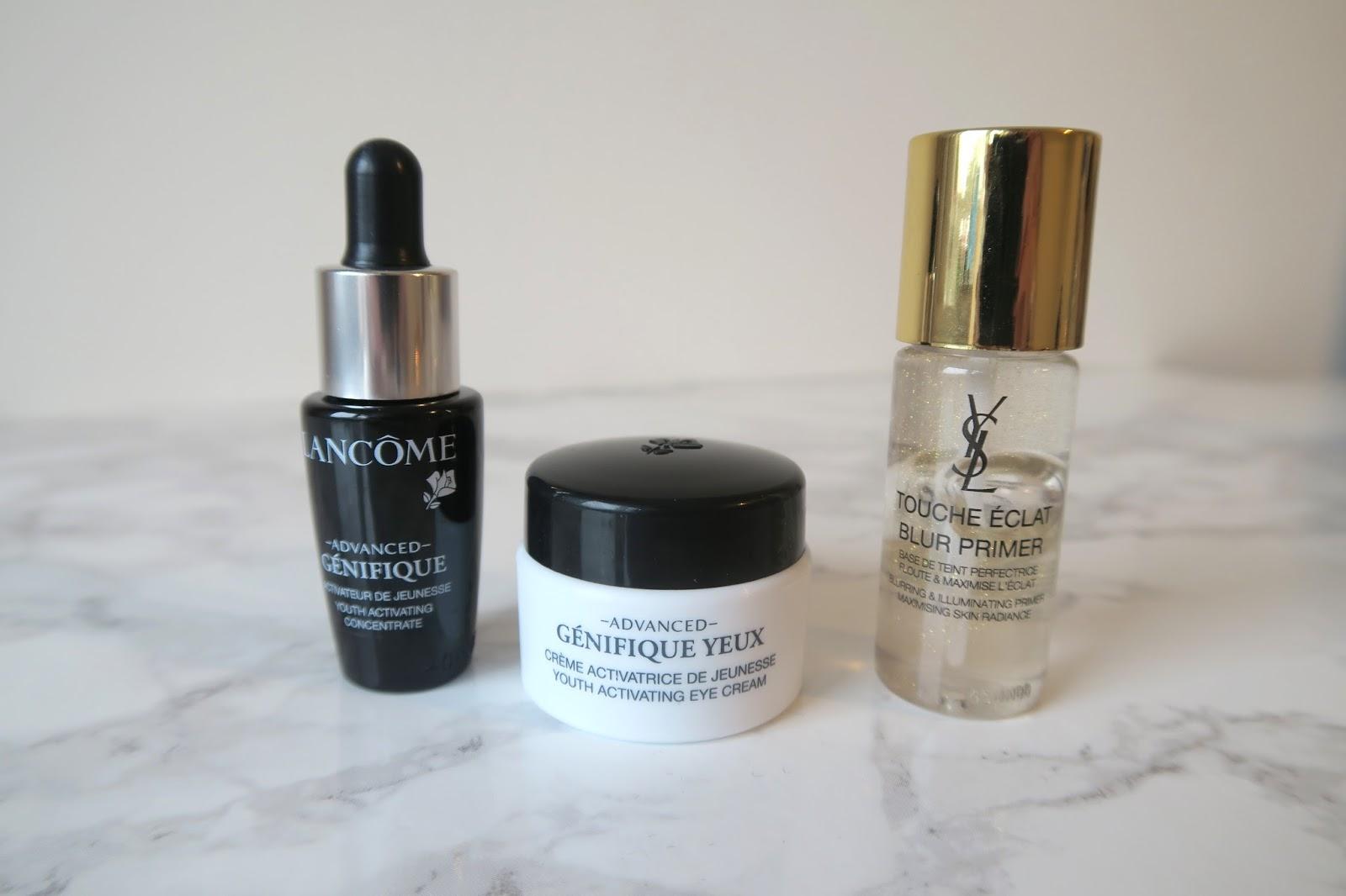Lancome and YSL skincare
