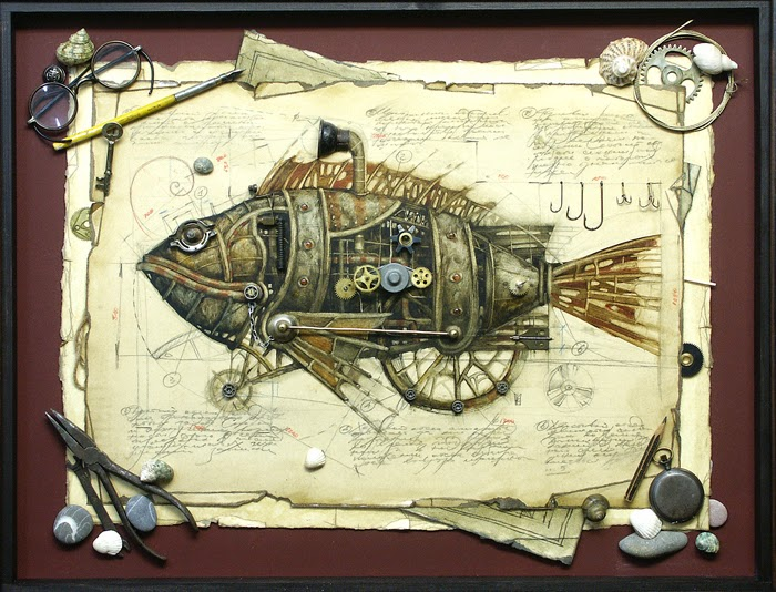 10-Vladimir-Gvozdev-Surreal-Steampunk-Animal-Drawings-www-designstack-co