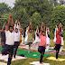 बीएड के छात्रों का  योग प्रशिक्षण शिविर का आरंभ