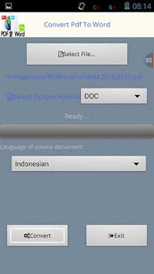 Cara Convert PDF ke Doc di Android