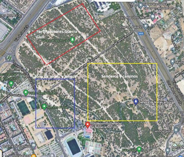visitar la Dehesa de Navalcarbón mapa