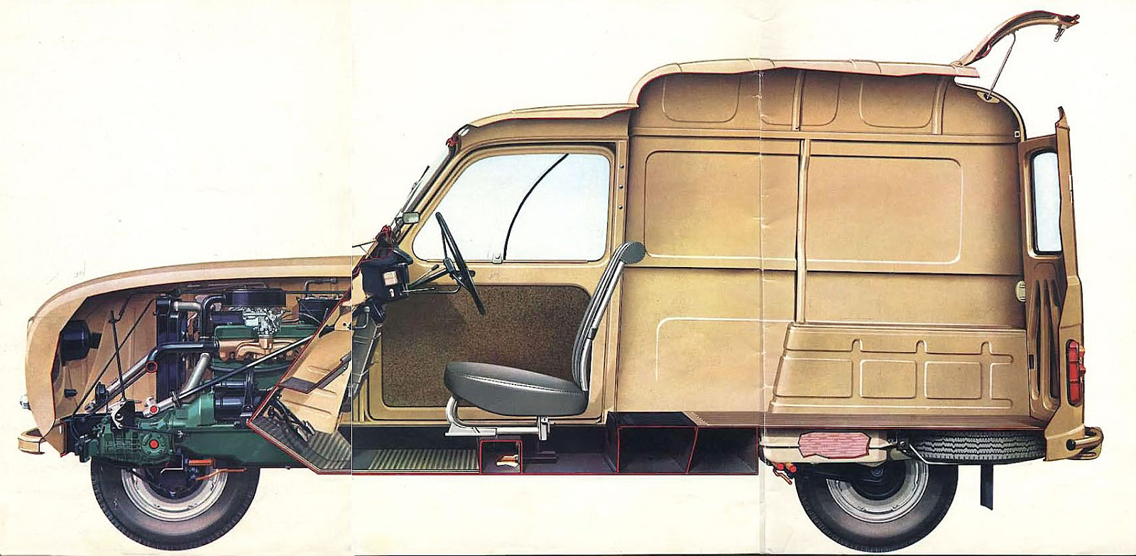 Marca renault modelo 4 fourgonnette a o 1965