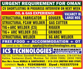 Job vacancies in Oil & Gas company in Oman