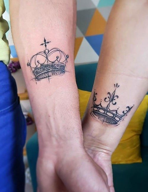 crown Matching Tattoo