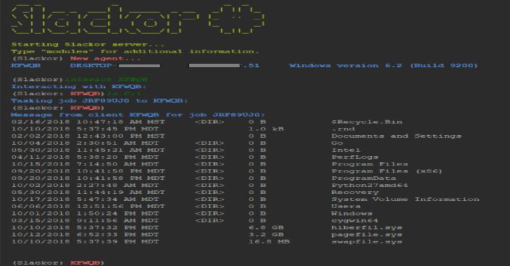 Slackor : A Golang Implant That Uses Slack As A Command & Control Server