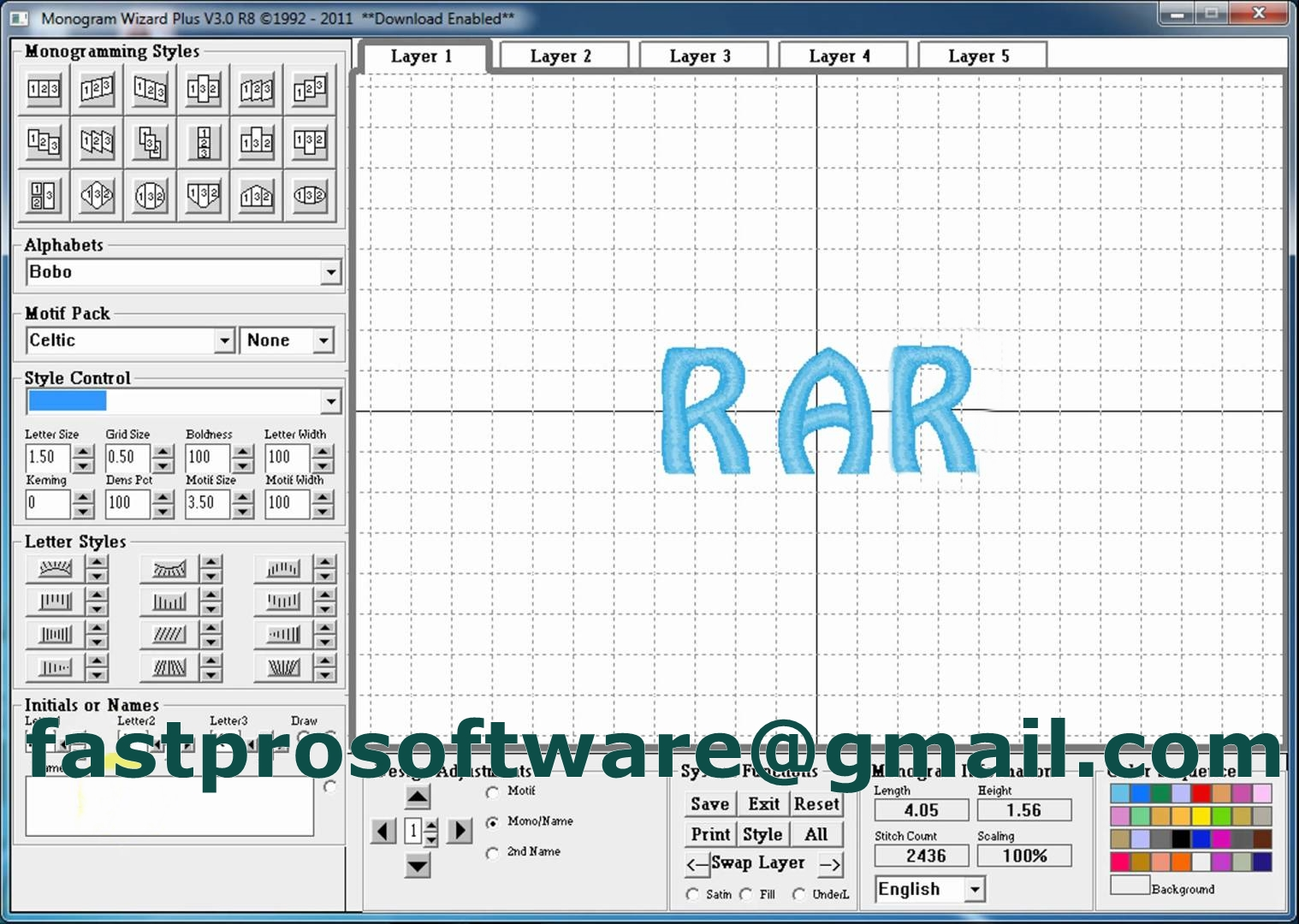 Software Selling Fastpro Monogram Wizard Plus Embroidery Lettering