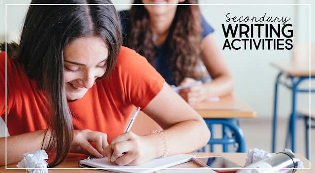 Writing activities for middle and high school English