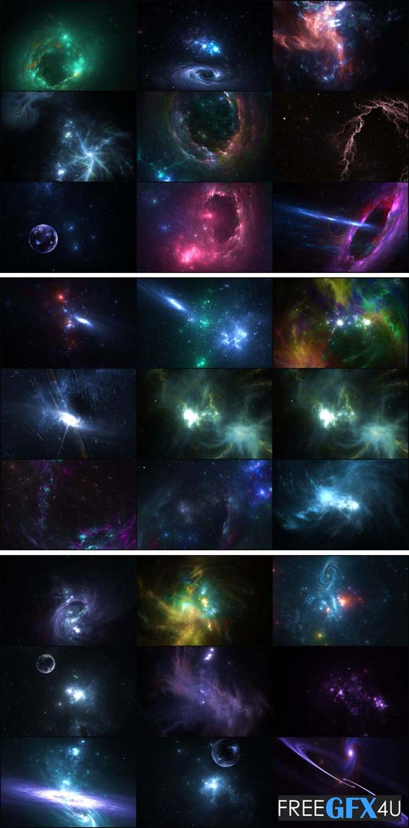 50 Deep Space Backgrounds Pack