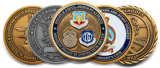 Marketing military challenge coins over social media