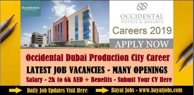 Occidental Dubai Production City Career Updated UAE | All Departments