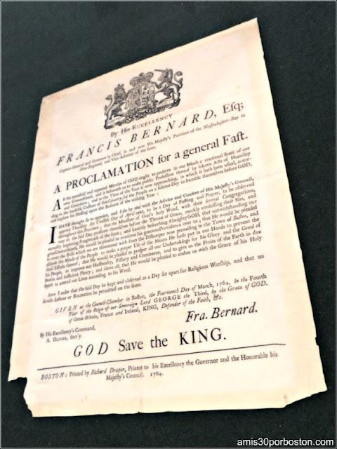 Reproducciones Documentos en el Council Chamber del Old State House