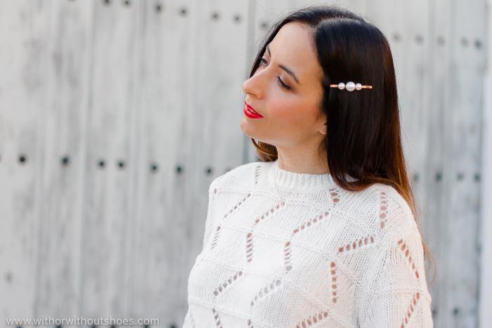 Horquilla de perlas / Hair clip: LPA para Revolve Clothing