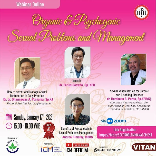 Webinar Organic & Psychogenic Sexual Problems and Management