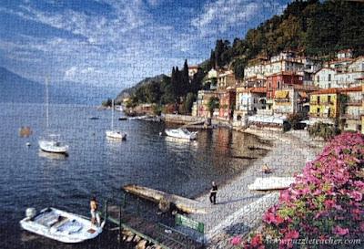 1000 parça Lago di Como-Como gölü/İtalya
