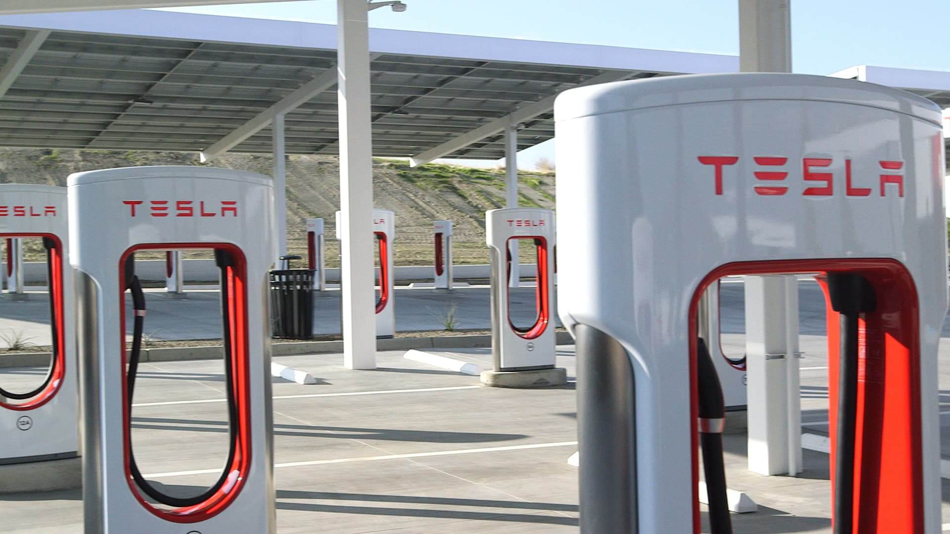 Red superchargers tesla