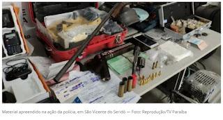 Quatro são presos suspeitos de tráfico de drogas e roubos, em São Vicente do Seridó, na PB