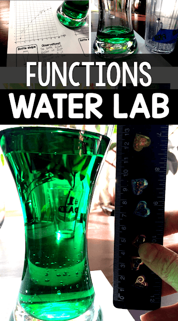 This water lab is a super fun way to introduce nonlinear functions in an algebra class. The math department at my school uses this lab as a way to start the school year in Algebra 2. The students love it, and by the end of the lab every student understands what it means to be an algebraic function!
