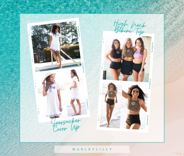 Splash into Spring with New Monogrammed Swimwear and Accessories from Marleylilly.com