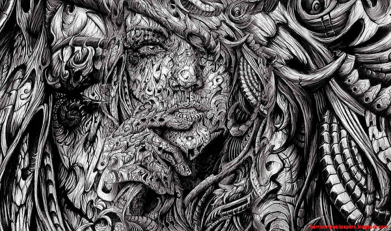 abstract drawings wallpapers wide faces cool amazing background version abstrak hdblackwallpaper
