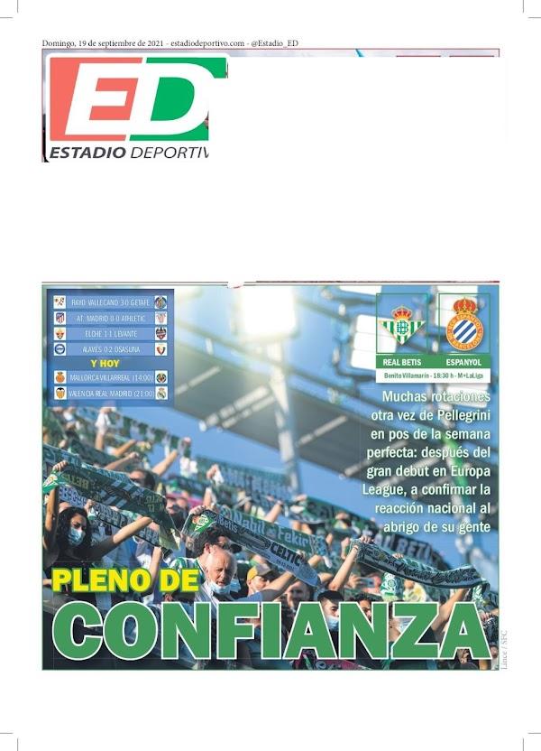 """Betis, Estadio Deportivo: """"Pleno de confianza"""""""