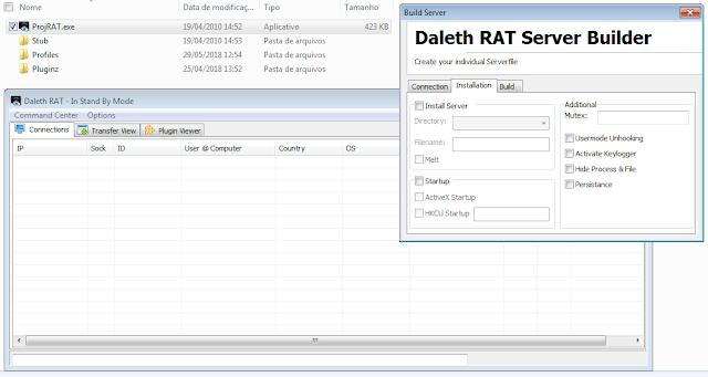 Daleth RAT 1.0 - ProjRAT  trojan original