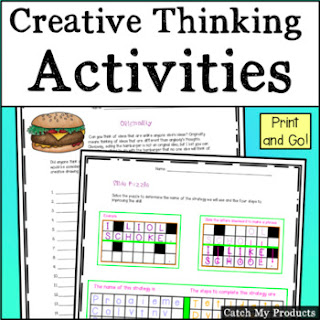Creative Thinking Exercises for Gifted and Talented students. #TpT