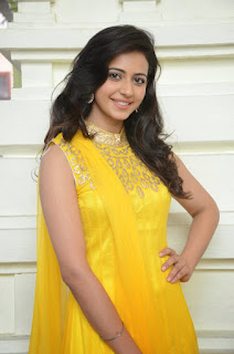 Rakul Preet Singh Latest Pictures in Yellow Salwar Kameez at Gopichand Prod.No.5 Movie Opening .COM 25289).jpg