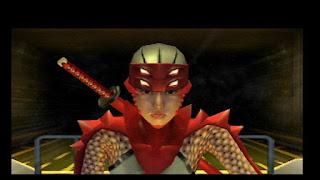 Captura de la Sony PS2 con un primer plano de Hibana (ninja) del videojuego Nightshade