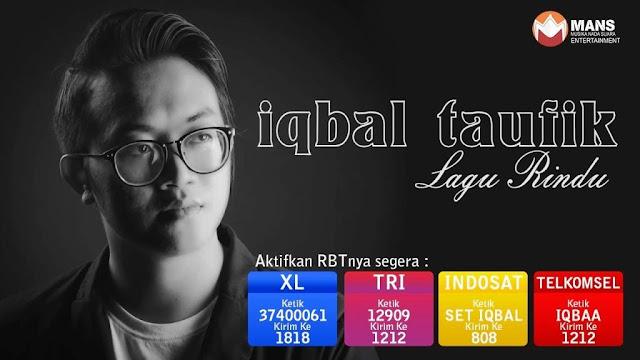 Lirik lagu Iqbal Taufik Lagu Rindu OST FTV SCTV