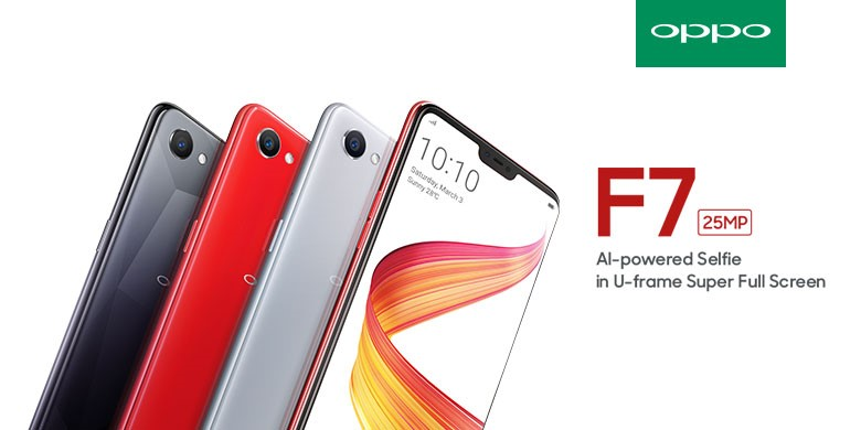 OPPO F7 telah resmi diluncurkan pada 17 April 2018
