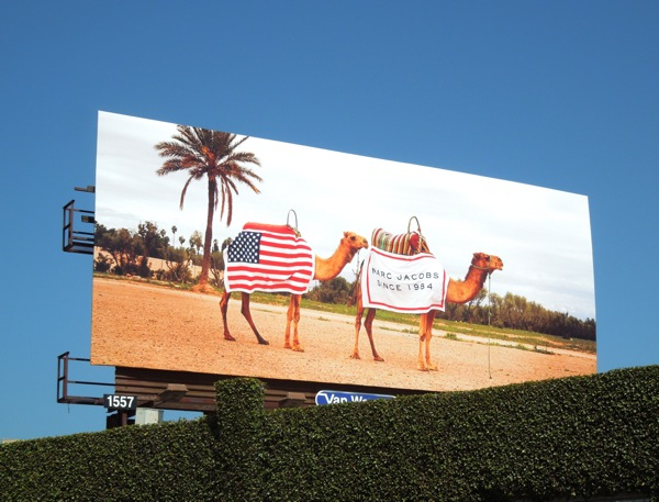 Marc Jacobs camels billboard June 2013