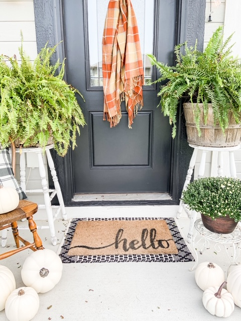 Black and white fall decor