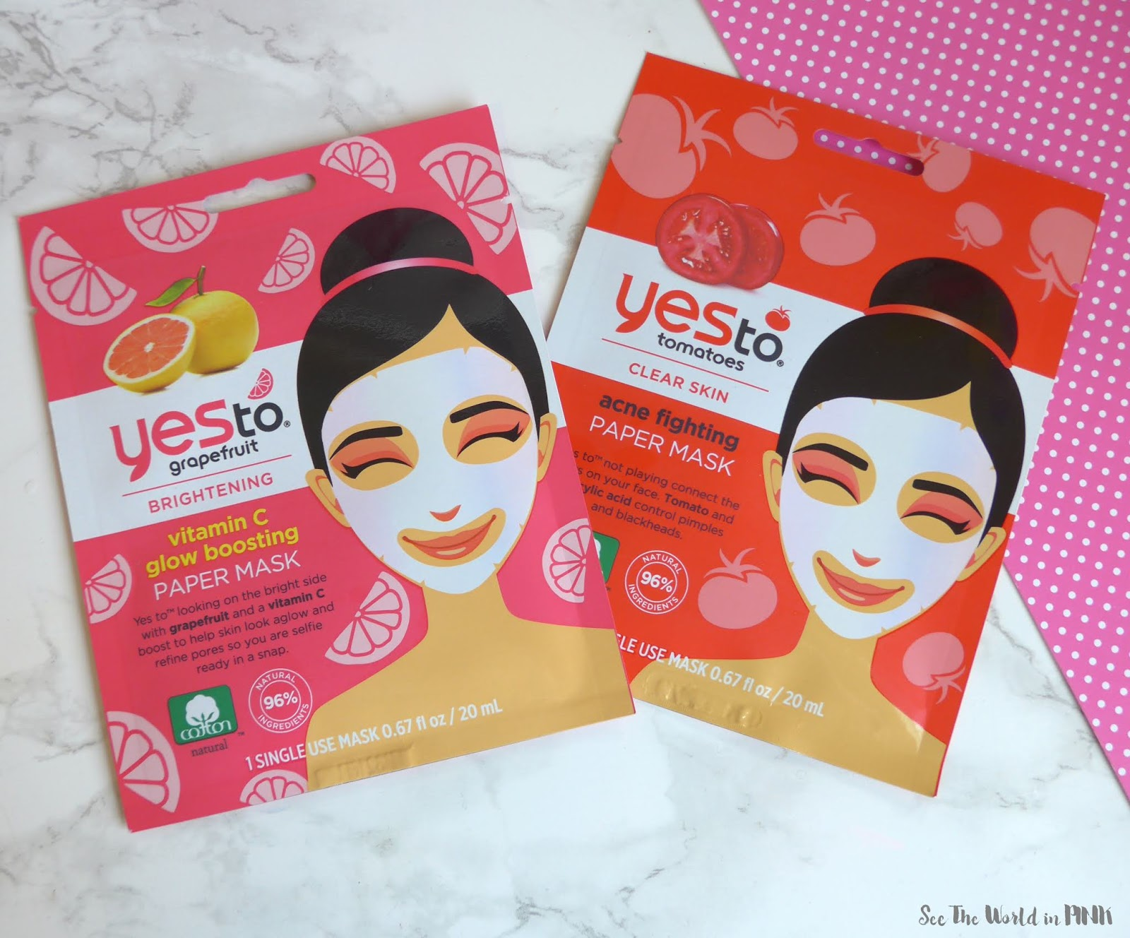 Skincare Sunday - Yes To Grapefruit & Tomato Paper Masks