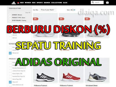 Berburu Diskon Sepatu Training Adidas Original