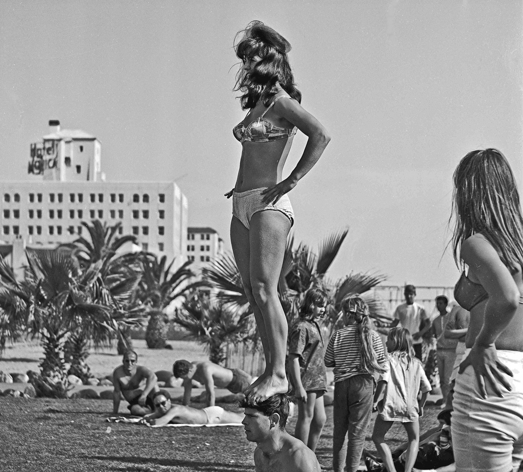 Take a trip to santa monica beach in the 1960s vintage everyday