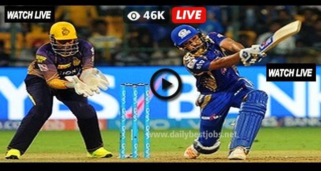 MI vs KKR Live Streaming Online Cricket Score