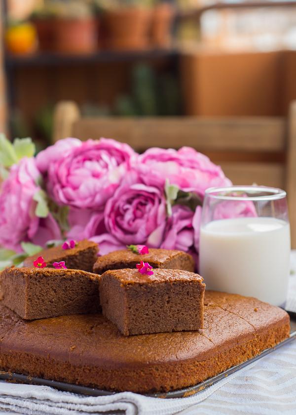 Bizcocho fácil de crema de cacao #sinlactosa #sanvalentin