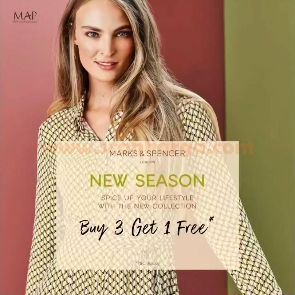 Promo Marks & Spencer New Seoson Buy 3 Get 1 Free*