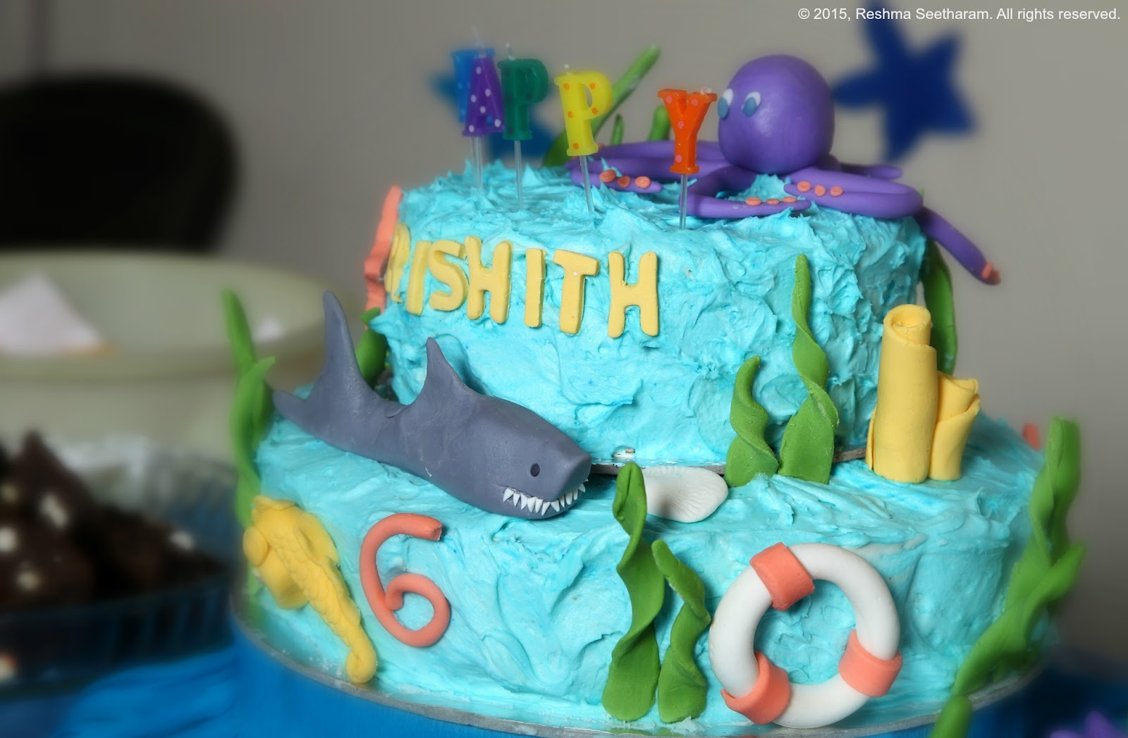 Strange Ocean Themed Cake And Home Birthdays Funny Birthday Cards Online Aeocydamsfinfo