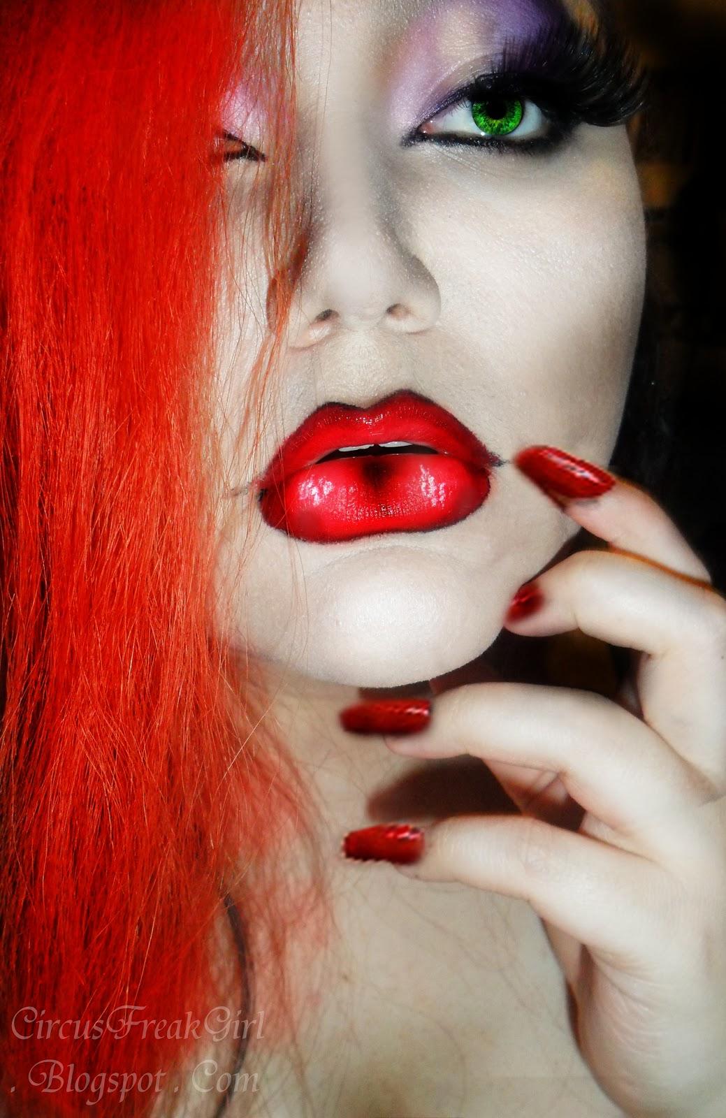 Hannabal Marie Jessica Rabbit Makeup Look