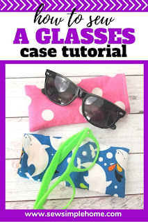 Learn how to sew a glasses case with this simple sewing tutorial and pattern.