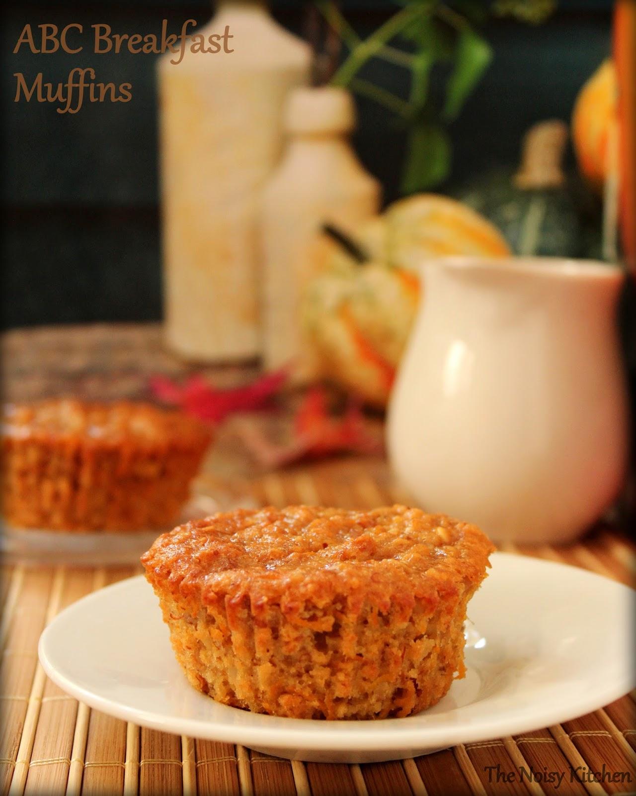 The Noisy Kitchen Abc Breakfast Muffins