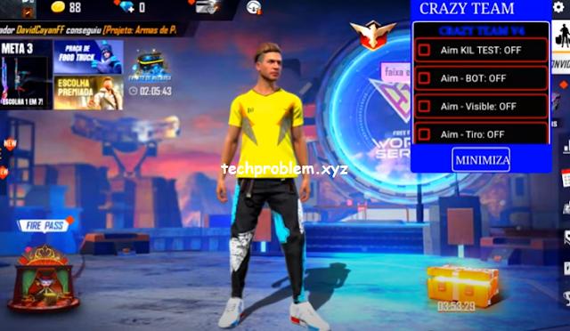 Free Fire Mod Menu Crazy Team V4 Headshot Teleport Wallhack Antiban