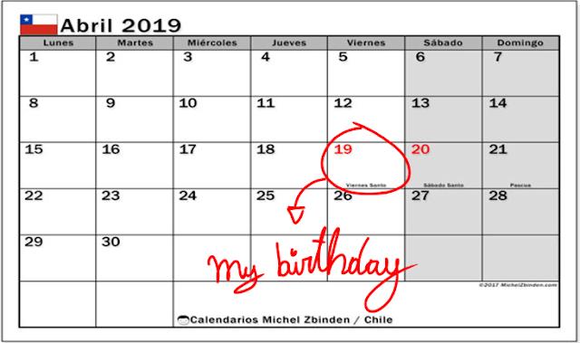 Calendario Michel Zbinden.My Personal Informacton