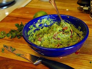 Bowl of chunky guacamole