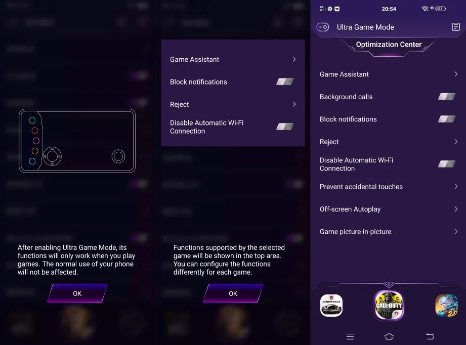 Vivo V19 Neo Ultra Game Mode
